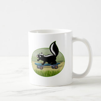 Skunk on a Skateboard Coffee Mug
