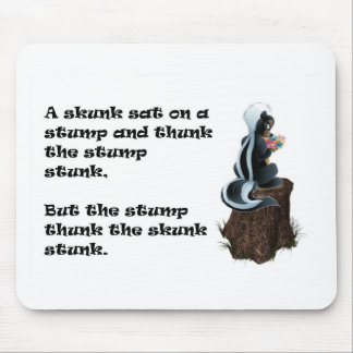 Skunk on the Stump Mouse Pad