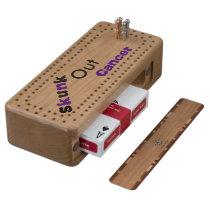 Skunk Out Cancer Cribbage Board - Purple/Blk
