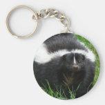 Skunk Photo Keychain