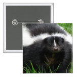 Skunk Photo Square Pin