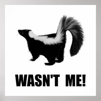 Skunk Wasn?t Me Poster