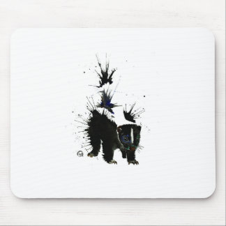Skunk watercolour painting mouse pad