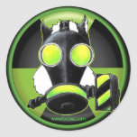 Skunk wearing Gasmask. Sticker