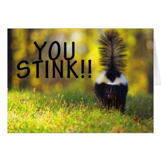 Skunk You Stink Card