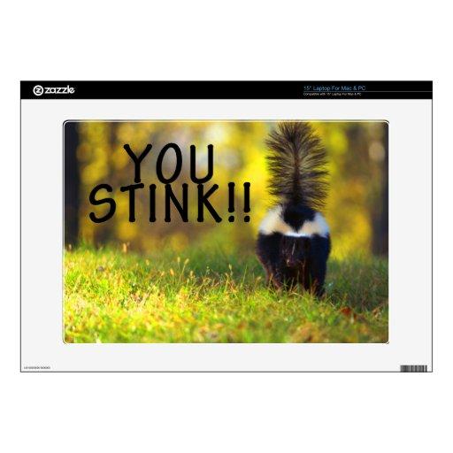 Skunk You Stink Decals For Laptops