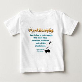Skunkilosophy: Just Living Baby T-Shirt