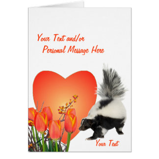 Skunks Easy To Customize Valentine Card