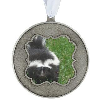 Skunks Scalloped Ornament