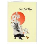 Skunks Need Time To Smell Flowers Too! Card