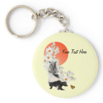 Skunks Need Time To Smell Flowers Too! Keychain