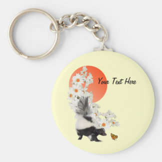 Skunks Need Time To Smell Flowers Too Keychain