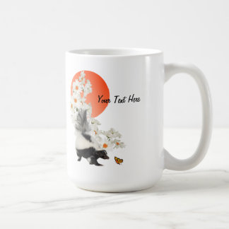 Skunks Need Time To Smell Flowers Too! Classic White Coffee Mug