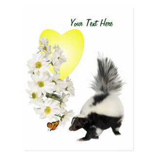 Skunks Need Time To Smell Flowers Too Postcard