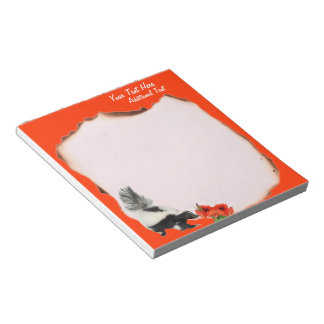 Skunks Smell Flowers Too Customizable Notepad