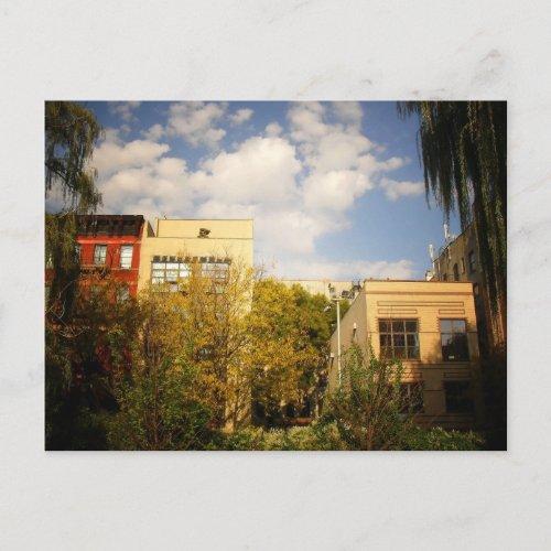 Sky Above a Garden in Alphabet City, East Village postcard
