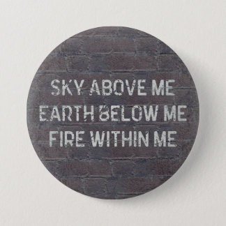 Sky Above Me Quote Button