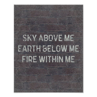 Sky Above Me Quote Poster