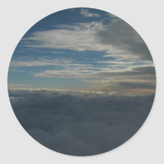 Sky Above San Jose, Ca From ~ 10,000Ft Sticker