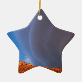 Sky After Storm High Sierra California Double-Sided Star Ceramic Christmas Ornament