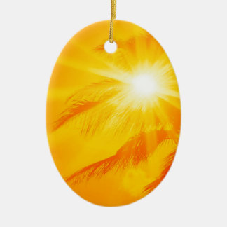 Sky Ala Moana Beach Oahu Hawaii Ceramic Ornament