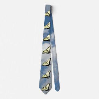 Sky and Butterflies Neck Tie