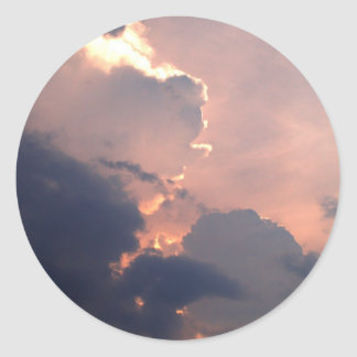 sky  and  cloud classic round sticker