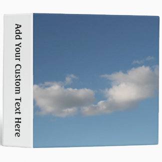 Sky and Clouds. 3 Ring Binder