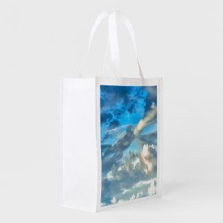 SKY AND CLOUDS Reusable Grocery Bag