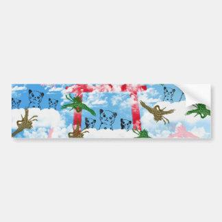 Sky and crane and invitation cat bumper sticker