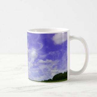 Sky and field photo coffee mug