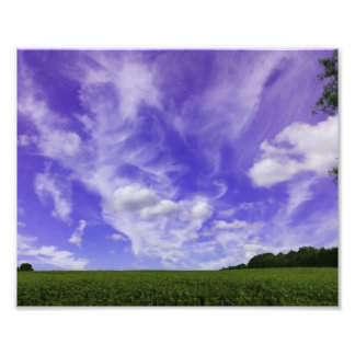 Sky and field photo