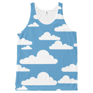 SKY AND FLUFFY CLOUDS All-Over Print Tank Top
