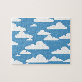 SKY AND FLUFFY CLOUDS ILLUSTRATION JIGSAW PUZZLE