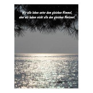 Sky and horizon postcard