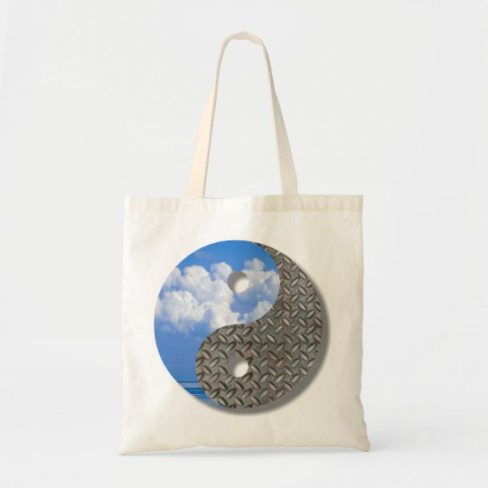 sky and metal tote bag