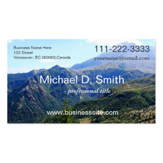 sky and mountain landscape picture professional business card