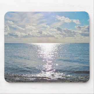 Sky and ocean mouse pad
