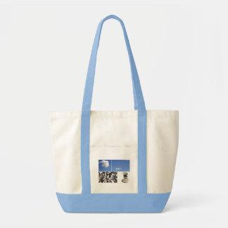 Sky and pebbles tote bag