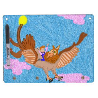Sky And Pink Clouds Dry Erase Board With Keychain Holder