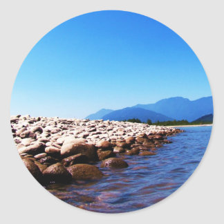 Sky and Water Classic Round Sticker
