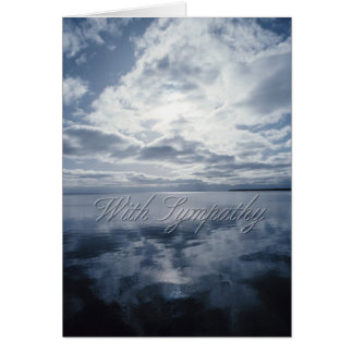 Sky and Water Condolence Card Greeting Card