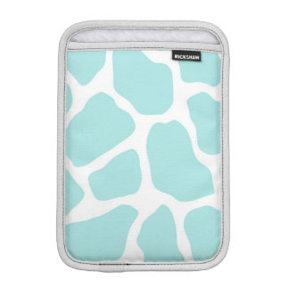Sky and White Giraffe Print iPad Mini Sleeve