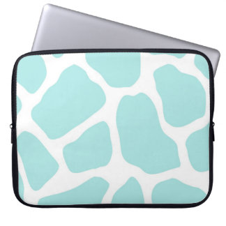 Sky and White Giraffe Print Laptop Computer Sleeves