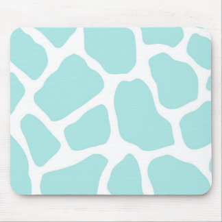 Sky and White Giraffe Print Mouse Pad