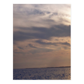 Sky at Dusk Over the Ocean Post Cards