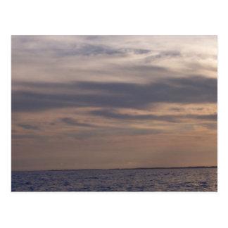Sky at Dusk Over the Ocean Postcards
