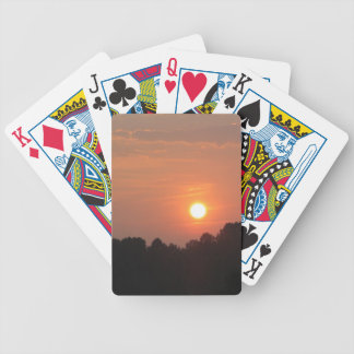 Sky At Sunset Bicycle Playing Cards