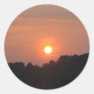 Sky at Sunset Classic Round Sticker