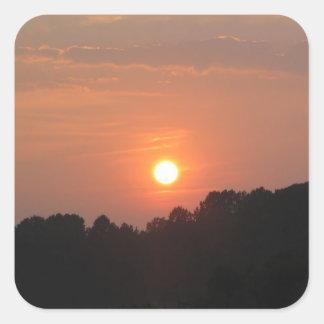 Sky at Sunset Square Sticker